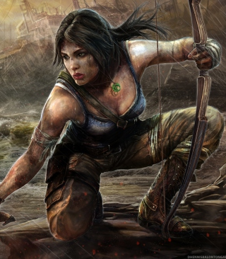 Lara Croft Tomb Raider Artwork sfondi gratuiti per iPhone 6