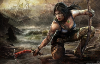 Free Lara Croft Tomb Raider Artwork Picture for Android 720x1280