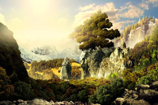 Fantasy Scenery Background for 480x400