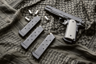 Colt Automatic Pistol M1911 Background for Android, iPhone and iPad