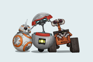 Star Wars and Walle Wallpaper for Fullscreen Desktop 1600x1200