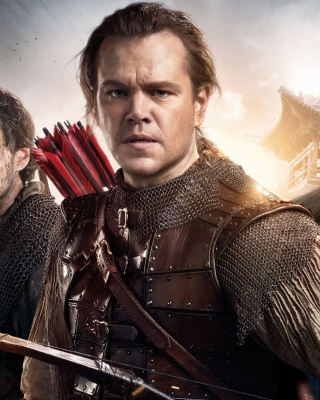 The Great Wall Movie with Matt Damon, Jing Tian, Pedro Pascal - Obrázkek zdarma pro iPhone 4
