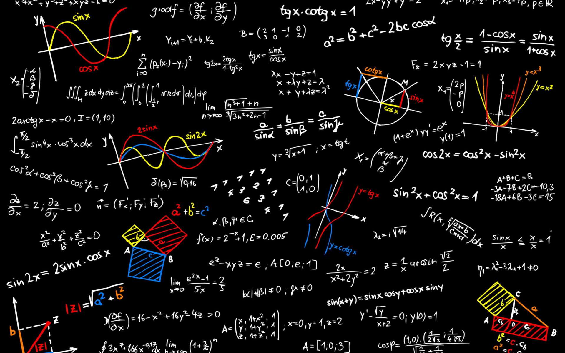 Math Equations wallpaper 1920x1200