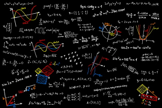Math Equations Background for Widescreen Desktop PC 1920x1080 Full HD