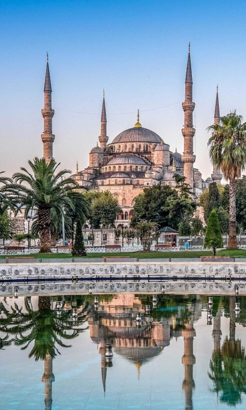 Istanbul Mosque HD wallpaper 480x800
