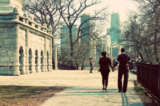 Walk In Chicago Background for Android, iPhone and iPad