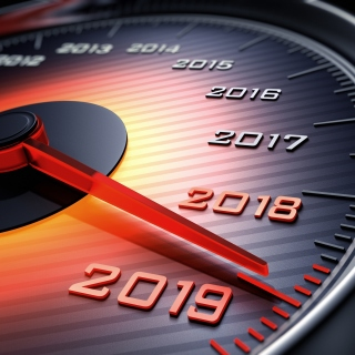 2019 New Year Car Speedometer Gauge - Fondos de pantalla gratis para 1024x1024