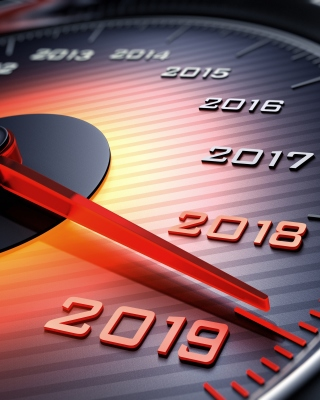 2019 New Year Car Speedometer Gauge Background for Nokia Asha 306