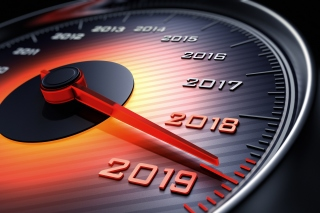 2019 New Year Car Speedometer Gauge Background for Android, iPhone and iPad