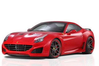 Novitec Rosso Ferrari California Background for Android, iPhone and iPad
