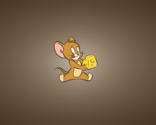 Tom And Jerry Mouse With Cheese para 220x176
