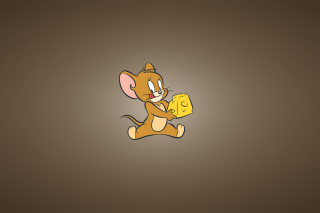 Tom And Jerry Mouse With Cheese - Obrázkek zdarma pro 320x240
