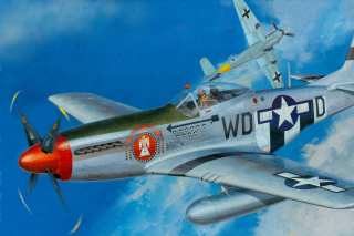 North American P-51 Mustang Fighter sfondi gratuiti per cellulari Android, iPhone, iPad e desktop