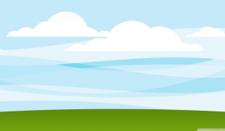 White Clouds, Blue Sky, Green Grass papel de parede para celular para Desktop 1920x1080 Full HD