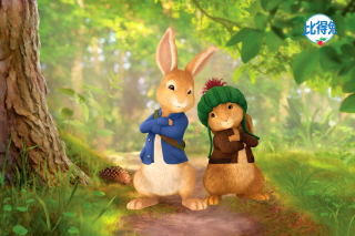 Peter Rabbit with Flopsy Background for Android, iPhone and iPad