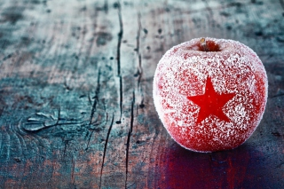 Christmas Star Frozen Apple Wallpaper for Android, iPhone and iPad