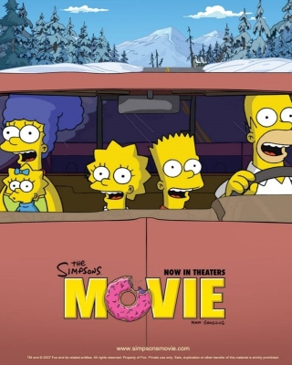 The Simpsons Movie papel de parede para celular para iPhone 4S