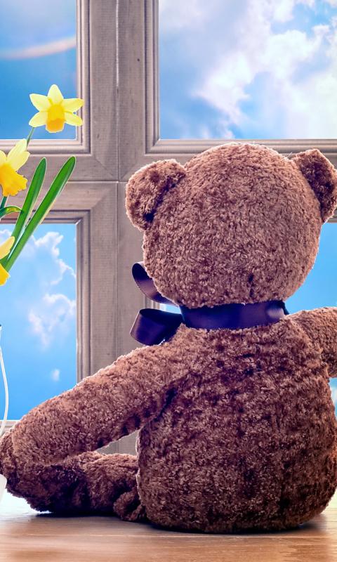 Teddy Bear with Bouquet per Nokia Lumia 800