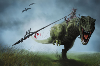 Angry Dinosaur Picture for Android, iPhone and iPad