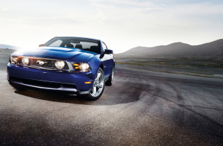 Blue Ford Mustang sfondi gratuiti per cellulari Android, iPhone, iPad e desktop