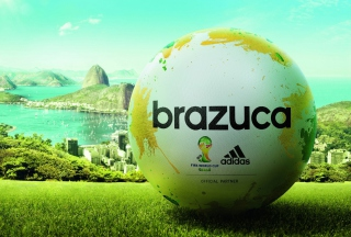 Kostenloses Adidas Brazuca Match Ball FIFA World Cup 2014 Wallpaper für 960x854