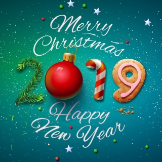 Merry Christmas and Happy New Year 2019 - Fondos de pantalla gratis para 1024x1024