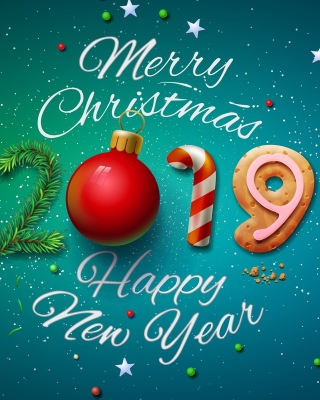Merry Christmas and Happy New Year 2019 - Obrázkek zdarma pro Nokia Asha 306