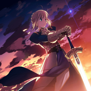 Saber from Fate/stay night sfondi gratuiti per iPad 3