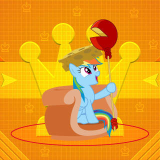 Kostenloses My Little Pony Orange Wall Wallpaper für iPad 3