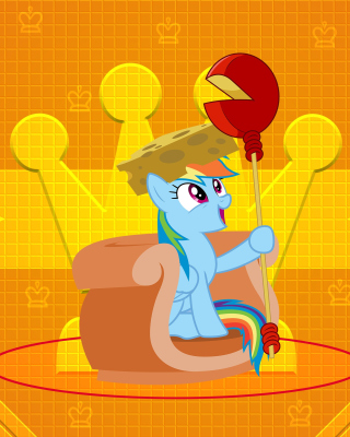Free My Little Pony Orange Wall Picture for 480x800