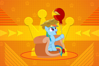 Free My Little Pony Orange Wall Picture for Android, iPhone and iPad