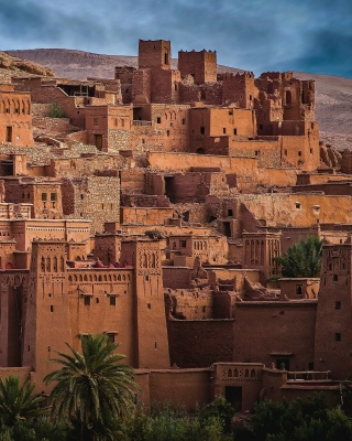 Morocco Castle Wallpaper for Nokia Asha 305
