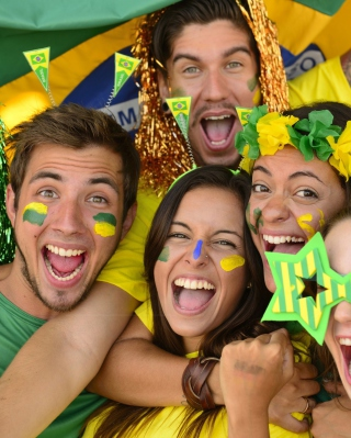 Brazil FIFA Football Fans Wallpaper for HTC Titan