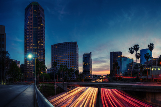 Los Angeles Panorama Wallpaper for Android, iPhone and iPad