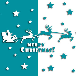 Merry christmas, Santa Claus on deer Illustration - Fondos de pantalla gratis para iPad 2