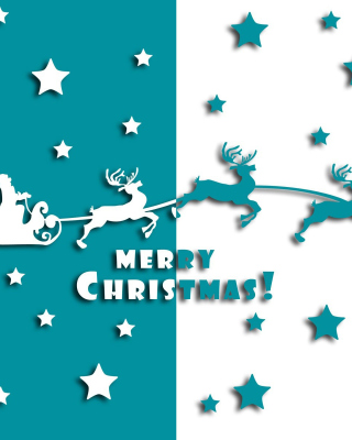 Merry christmas, Santa Claus on deer Illustration Background for 240x320