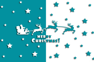 Merry christmas, Santa Claus on deer Illustration - Fondos de pantalla gratis