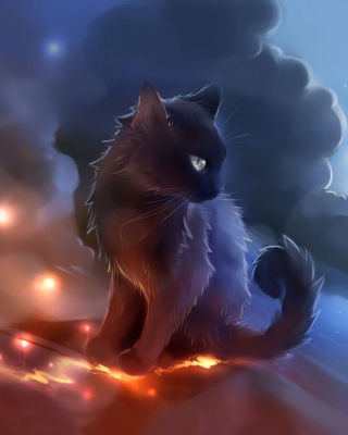 Kitten in Clouds Background for iPhone 6 Plus