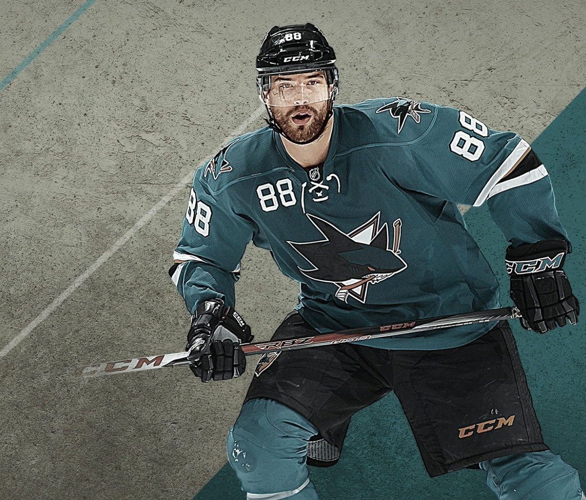 Fondo de pantalla Brent Burns from San Jose Sharks 1200x1024