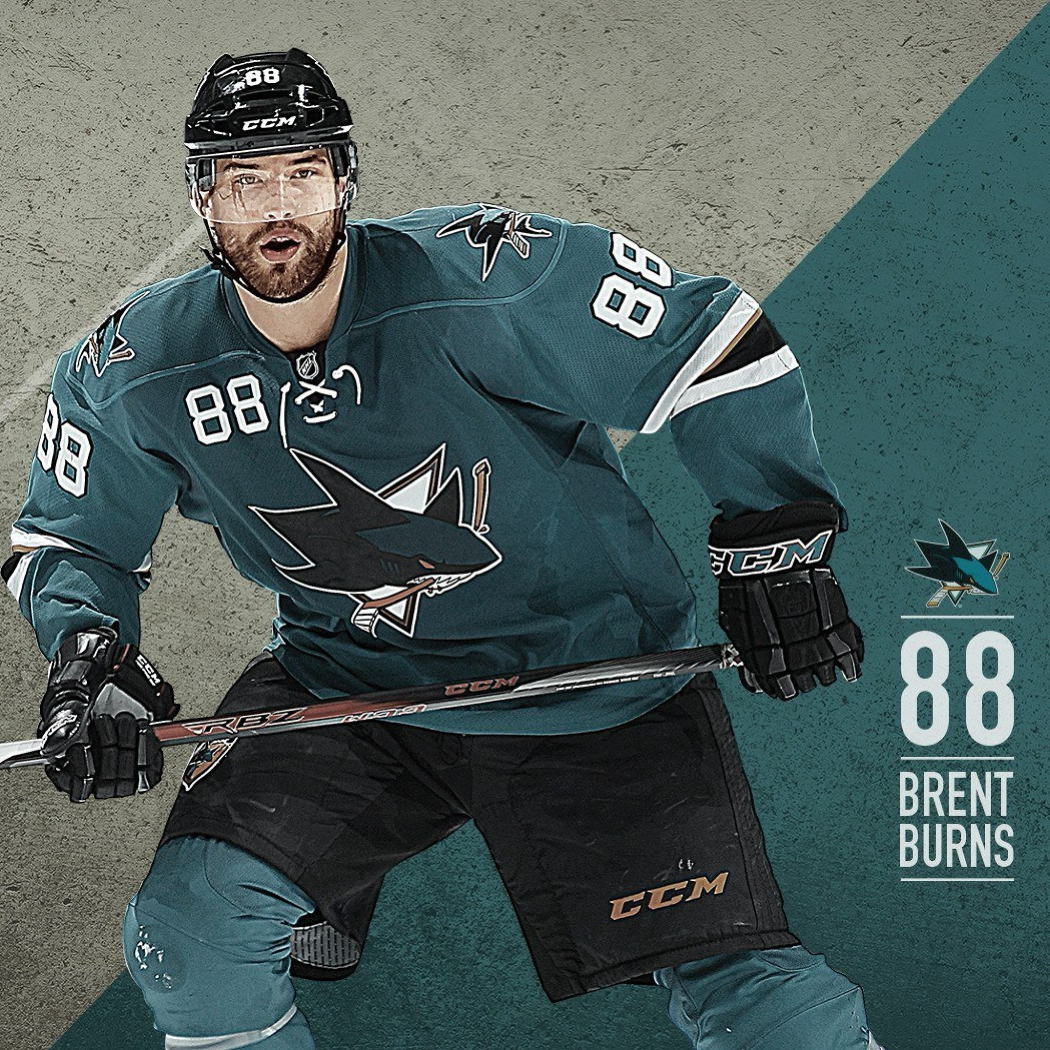 Screenshot №1 pro téma Brent Burns from San Jose Sharks 2048x2048