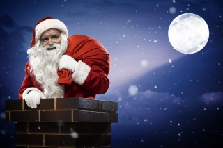Santa Is Here Picture for Android, iPhone and iPad