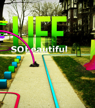 Life Is Beautiful Background for Nokia C1-01