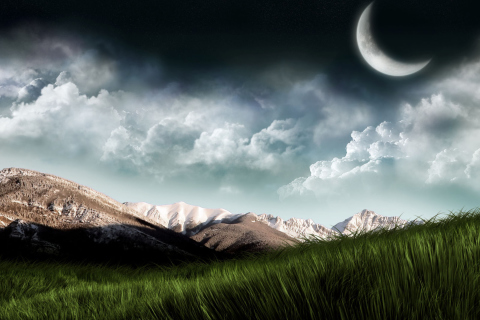 3D Moon Landscape Photography para Samsung S5367 Galaxy Y TV