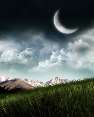 3D Moon Landscape Photography Wallpaper for 640x1136