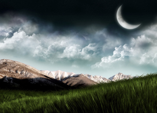 3D Moon Landscape Photography Background for Android, iPhone and iPad