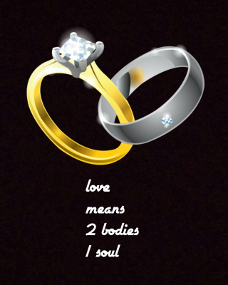 Love Rings Background for Nokia Asha 306
