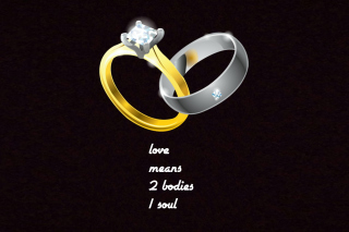 Love Rings Background for HTC Desire HD