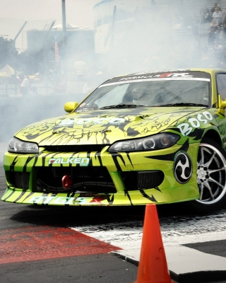 Nissan Sport Car Drift Picture for 480x800