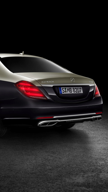Sfondi Mercedes Maybach S560 2018 360x640