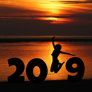 2019 New Year Sunset sfondi gratuiti per 1024x1024